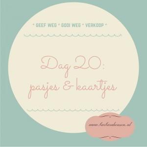 Dag 20- pasjes & kaartjes