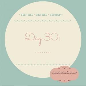 Dag 30- ......